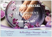 All new Clients receive $10 discount on first 2 treatments Wingham Reflexology 4