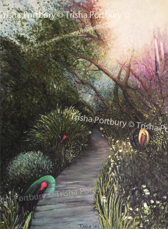 A landscape 'Where spirit play' - oil on canvas - by Trisha